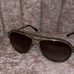 Versace green crystal sunglasses